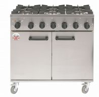 Burco RG90 with a 3/4 inch gas hose Ranges 6 Burner Gas (POA)